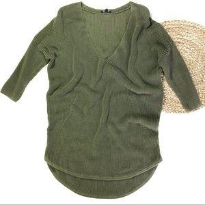 Express | Medium Olive Green Sweater Tunic Dress